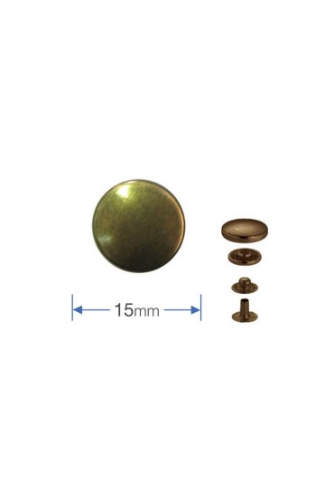 Bottoni a pressione in metallo bronzo Prym 15 mm