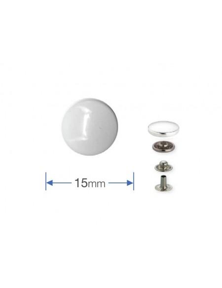 Bottoni a pressione in metallo bianco laccato Prym 15 mm