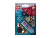Bottoni a pressione in metallo oro Prym 15 mm