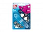 Bottoni a pressione in metallo con perla Prym 12 mm