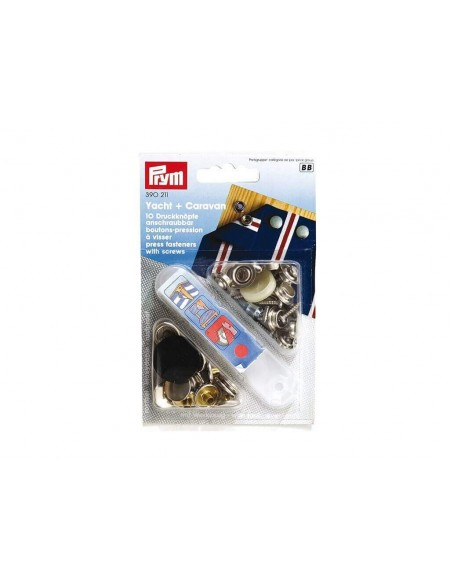 Bottoni a pressione in metallo Prym 15 mm per legno