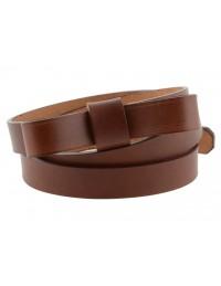 Cintura donna con fiocco in vero cuoio marrone