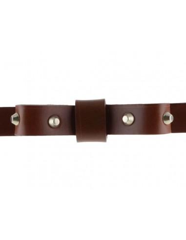 Vero Donna Uomo Borchie Occhielli Cintura Jeans Nero Braun 4 CM Largo Nuovo