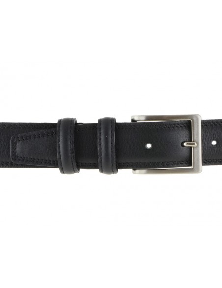 Cintura uomo in pelle nera limited edition