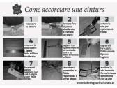 Cintura uomo in pelle marrone stampa elefante made in Italy