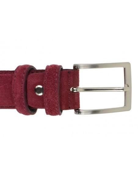 Cintura da uomo in camoscio artigianale marsala
