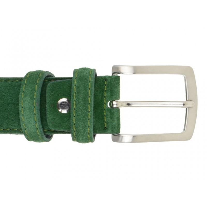 Cintura Pelle Verde Acqua Cuoio Uomo Donna Artigianale Made In Italy 2,0 cm 2 c1