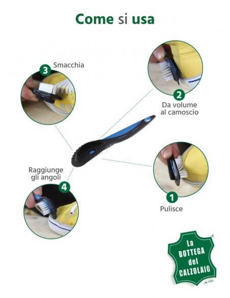 Spazzola per pulire sneakers di camoscio
