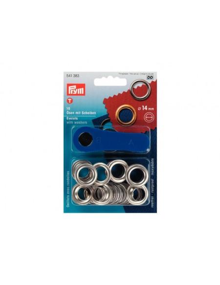 Occhielli per tende da 14 mm argento