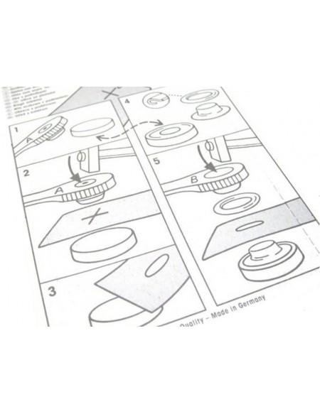 LOVIVER Confezione da 12 Anelli per Occhielli in ABS Argento per Tende Tessuto in Pelle Banner Artigianato Fai da Te Diametro Interno 45 Mm