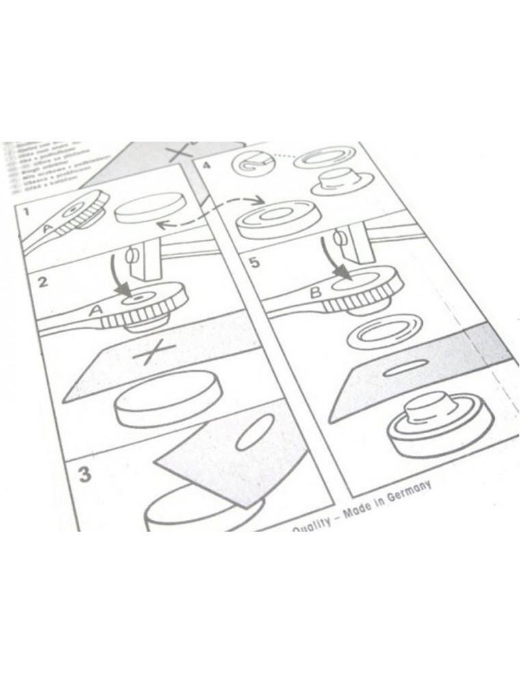 Occhielli per tende, teloni e teli in metallo argento da 14 mm