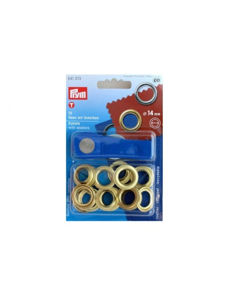 Occhielli per tende da 14 mm oro
