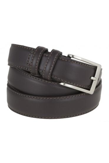 Cintura uomo elegante in pelle di vitello testa di moro classica 3,5 cm