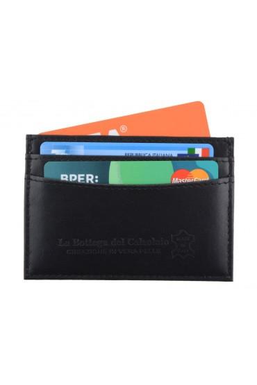 Porta carte di credito da uomo in pelle nera
