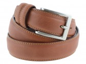 Cintura uomo elegante in pelle di vitello marrone chiaro classica 3,5 cm