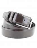 Cintura uomo in pelle di vitello spazzolato marrone 3,5 cm