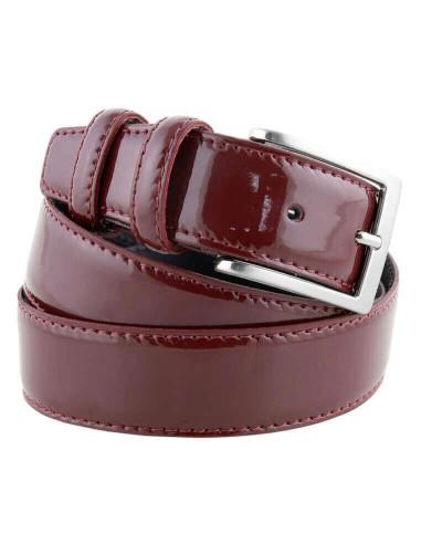 Lloyd Uomo in Pelle Cintura velluto-pelle bombato GRIGIO ACCORCIABILE 35mm uomo cintura