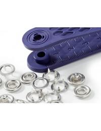 Bottoni a pressione in metallo argento Prym 10 mm