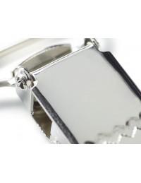 Clips per bretelle in metallo argento Prym