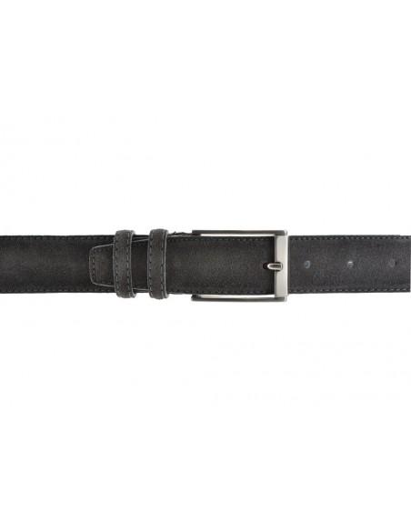 Cintura da uomo in camoscio artigianale grigio scuro