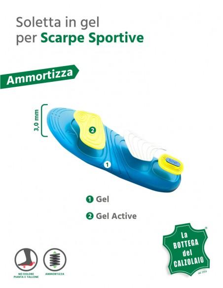 Soletta gel Dr. Scholl per scarpe sportive