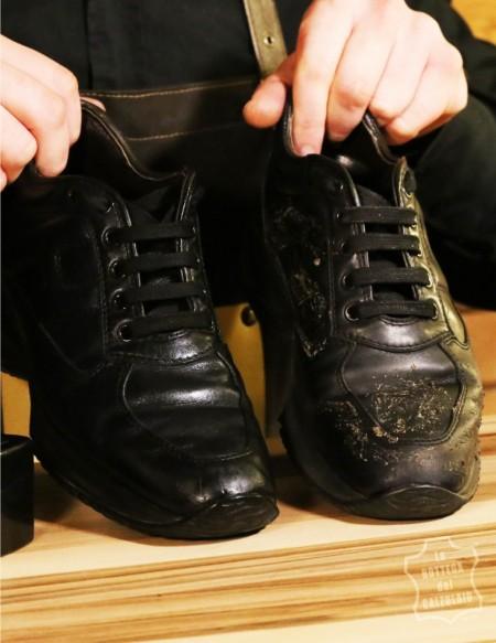 Kit per lucidare scarpe in pelle