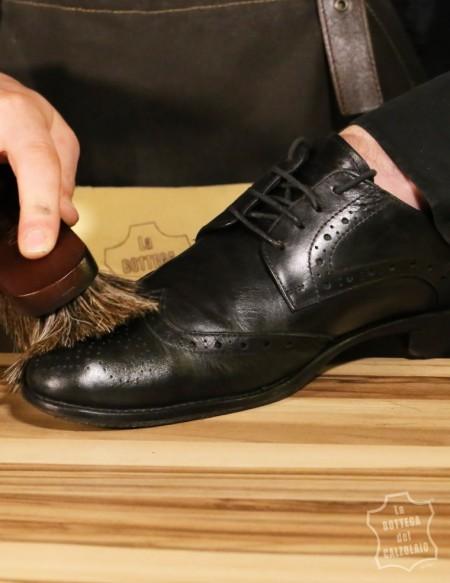 Spazzole in crine di cavallo antigraffio per scarpe in pelle