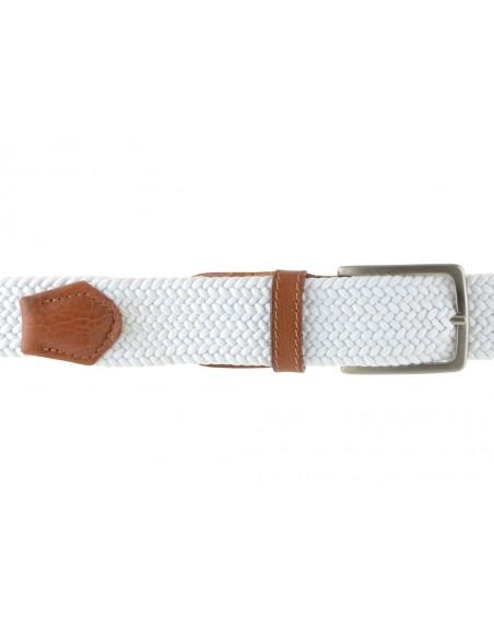 Cintura intrecciata elastica bianca