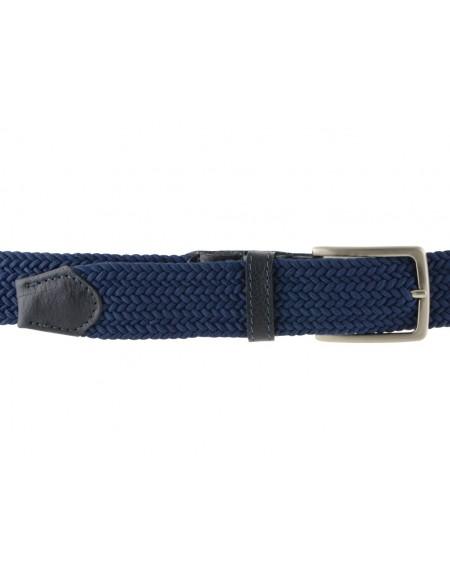 Cintura intrecciata blu da uomo