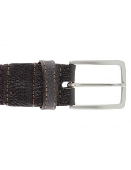 Cintura intrecciata marrone da uomo