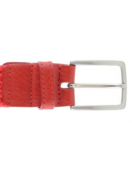 Cintura rossa intrecciata da uomo