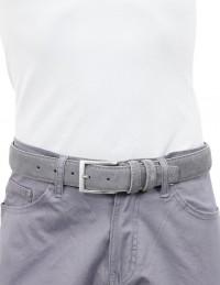 Cintura da uomo grigio chiaro scamosciata