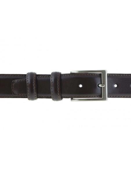 Cintura in pelle semi lucida classica elegante da cerimonia 3,5 cm