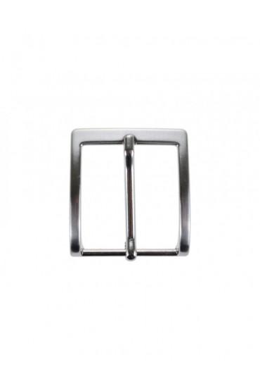 Fibbia anallergica nickel free per cinture 3 cm color argento
