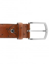 Cintura struzzo marrone da uomo
