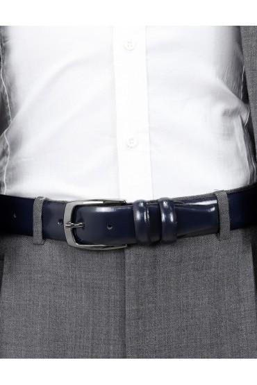 Cintura uomo blu lucido
