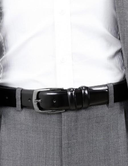 Cintura uomo nera lucida elegante