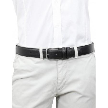 Cintura uomo pelle nera classica modello Prada sposo