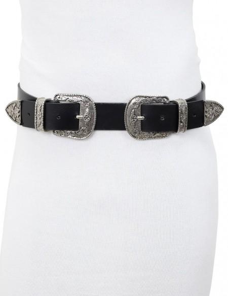 Cintura doppia fibbia da donna