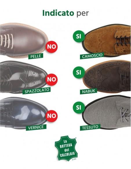 Camoscina nera per scarpe in camoscio nabuk e tela