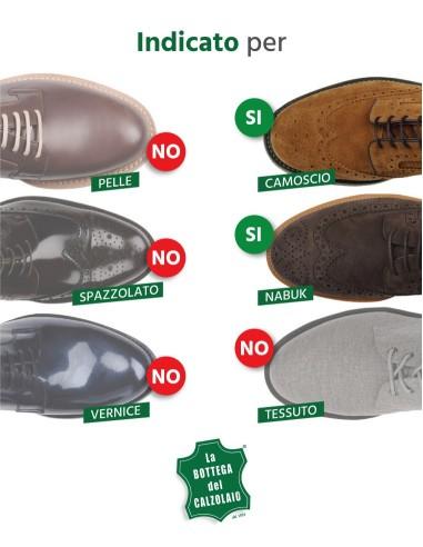 Gomma pane per pulire scarpe in camoscio e nabuk