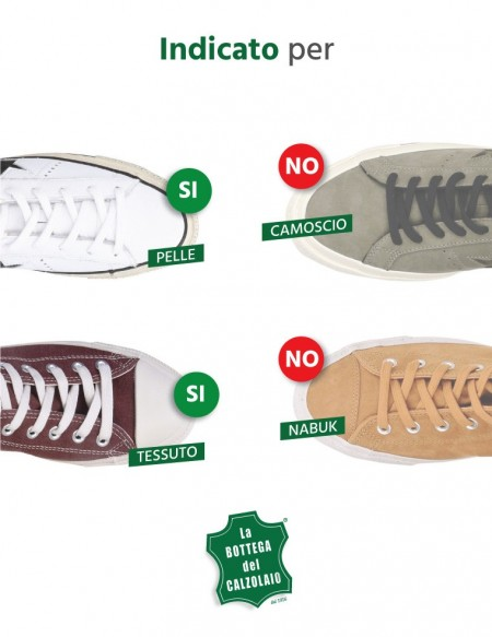 Bianchetto per sneakers in pelle bianca