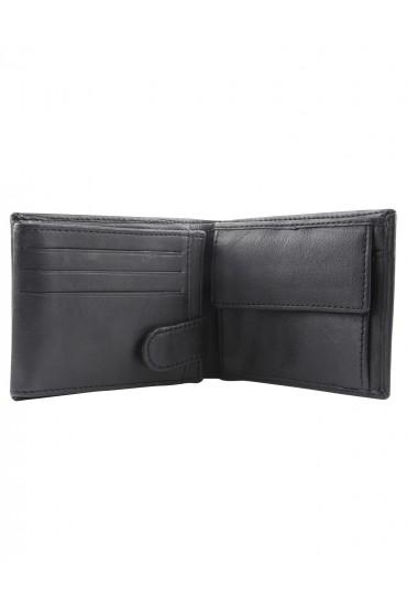 Portafogli uomo con portamonete nero