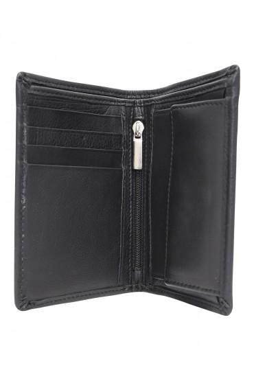Portafogli uomo slim nero con portamonete