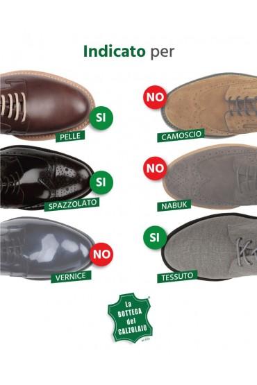 Vernice per scarpe in pelle e tessuto bianco