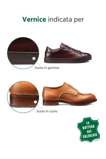Vernice per tingere il bordo delle scarpe