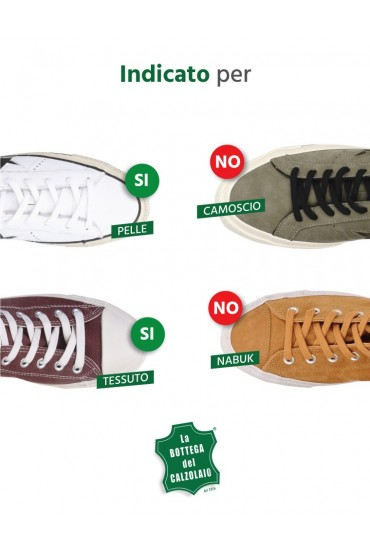 Vernice nera per sneakers in pelle nera