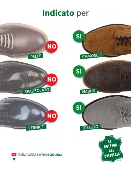 Vernice per scarpe e accessori in camoscio nero