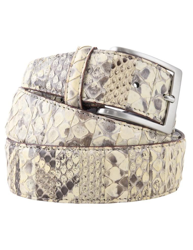online stile limitato bello economico Cintura di pitone da uomo beige