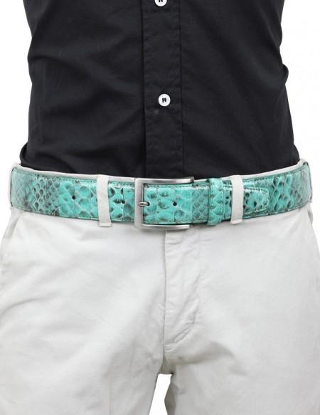 Cintura di pitone da uomo verde